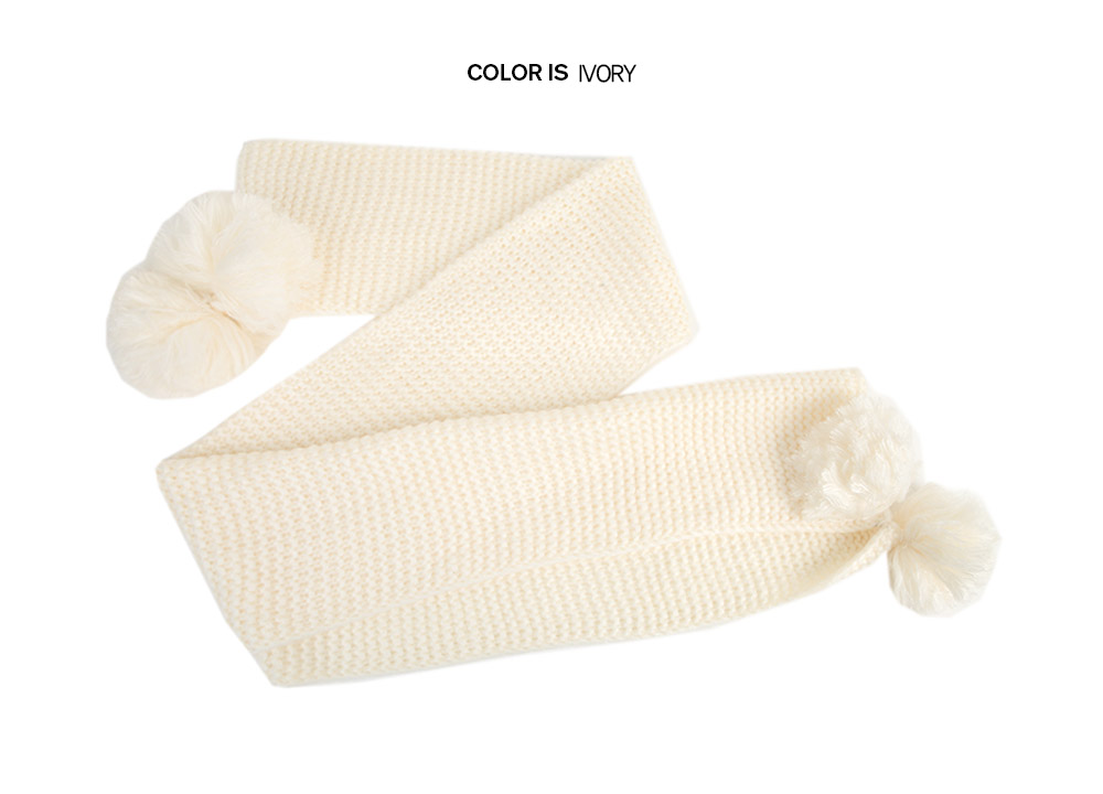 Bobble Knit Scarf