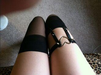 belt heart tumblr garter belt garter black grunge