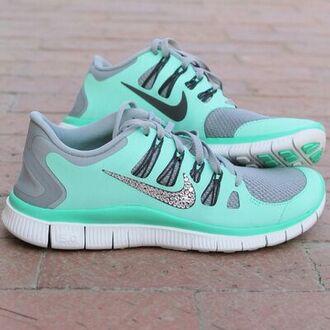 shoes shorts mint green shoes nike free run running shoes