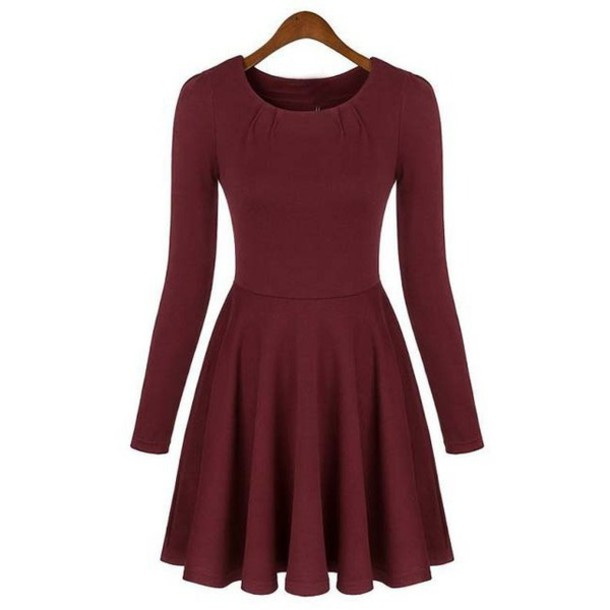 dress red dress burgundy dress skater dress