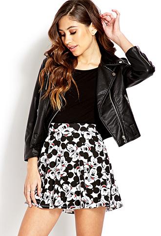Hey Mickey Skater Skirt   FOREVER21 - 2000125586