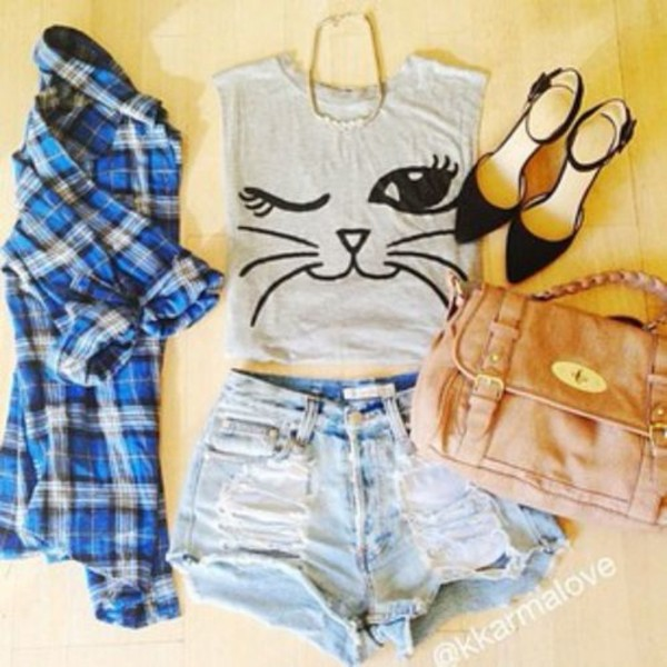 jeans tank top jacket t-shirt