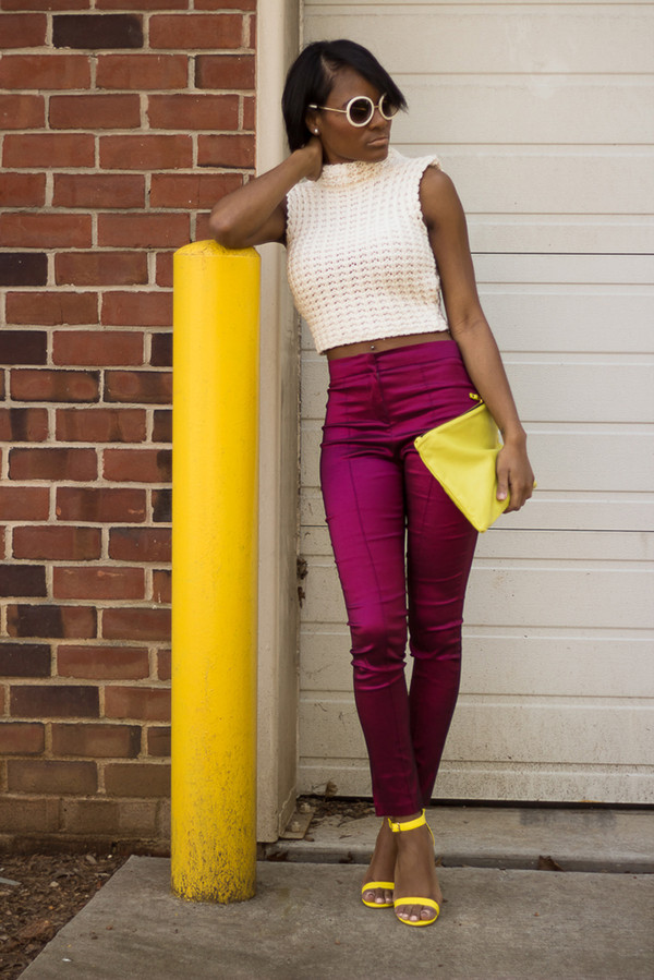 the daileigh pants t-shirt bag sunglasses shoes