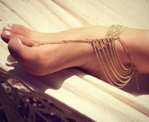 2pc Barefoot Sandals Foot Jewelry Beach Wedding Dancing Tassel Ankle Bracelet   eBay