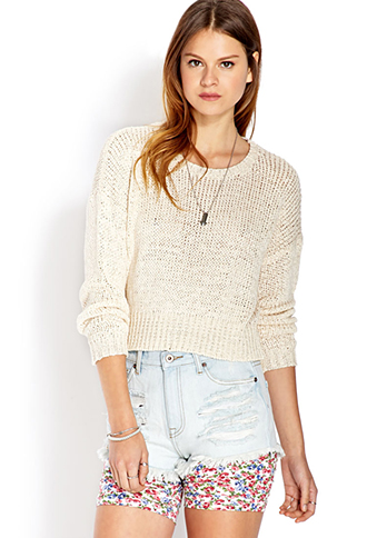 Cozy Cropped Sweater   FOREVER21 - 2000070360
