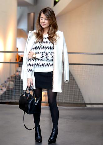 mariannan coat sweater skirt