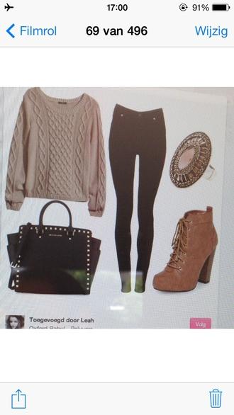 sweater winter sweater christmas sweater pink sweater jennifer love hewitt bag shoes
