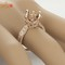 10mm round cut solid 14k rose gold natural diamond engagement semi mount ring | ebay