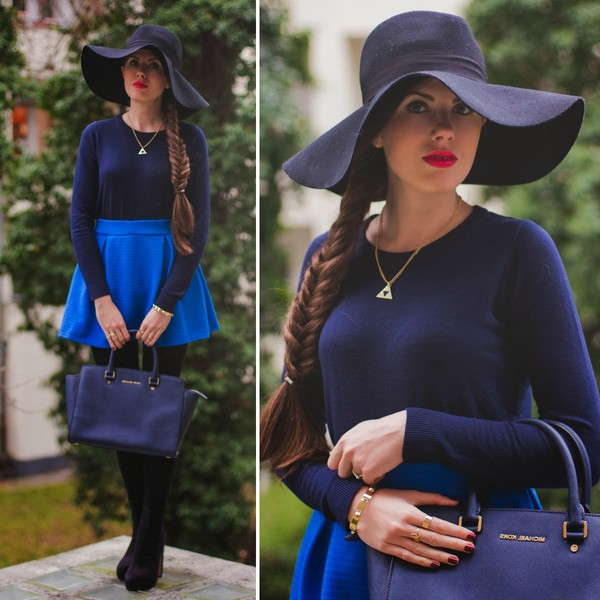 frau eismann hat jewels sweater skirt bag shoes coat