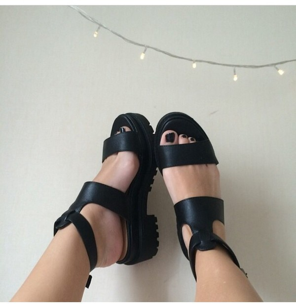 shoes summer grunge shoes grunge black sandals summer shoes