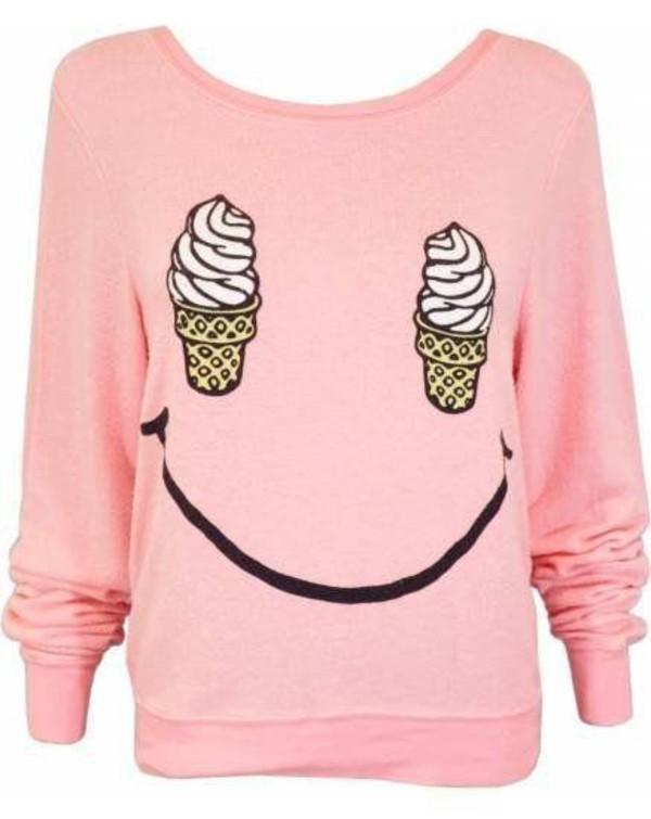 sweater cute pink ice cream