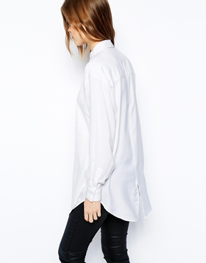 ASOS | ASOS Boyfriend Shirt with Embroidered Overlay at ASOS