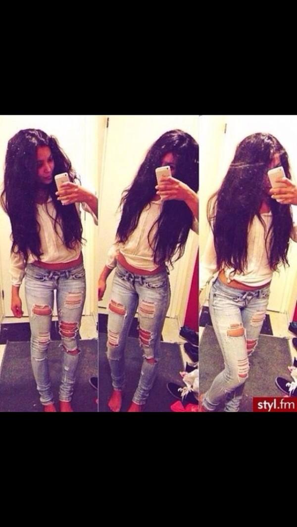 jeans acid wash light washed denim skinny jeans ripped jeans ripped skinny jeans blouse
