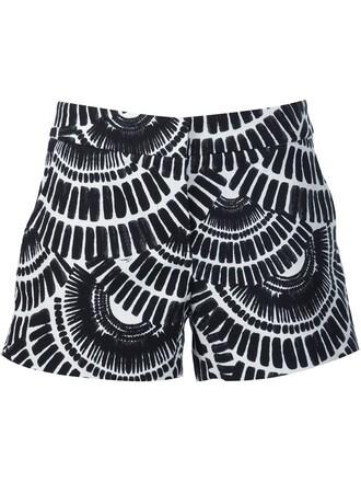 shorts ethnic print black