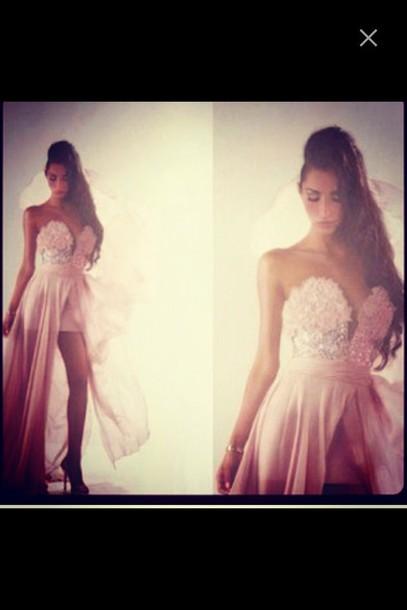 dress maxi dress long prom dress pink dress