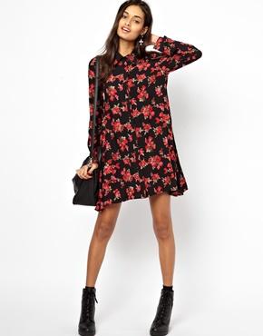 Glamorous | Glamorous Swing Shirt Dress Ditsy Floral at ASOS