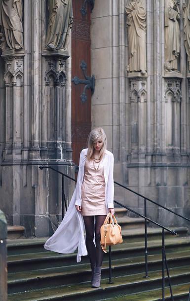 bekleidet blogger blouse mini dress pink dress