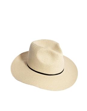 ASOS   ASOS Straw Fedora Hat With Skinny Band at ASOS