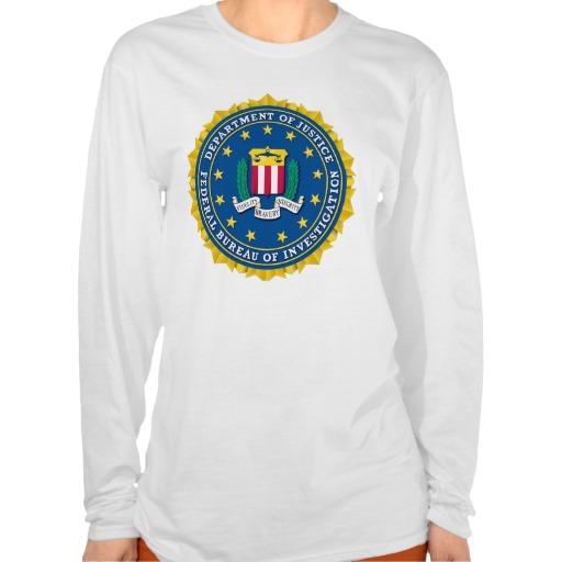 Federal Bureau of Investigation Tee Shirt from Zazzle.com