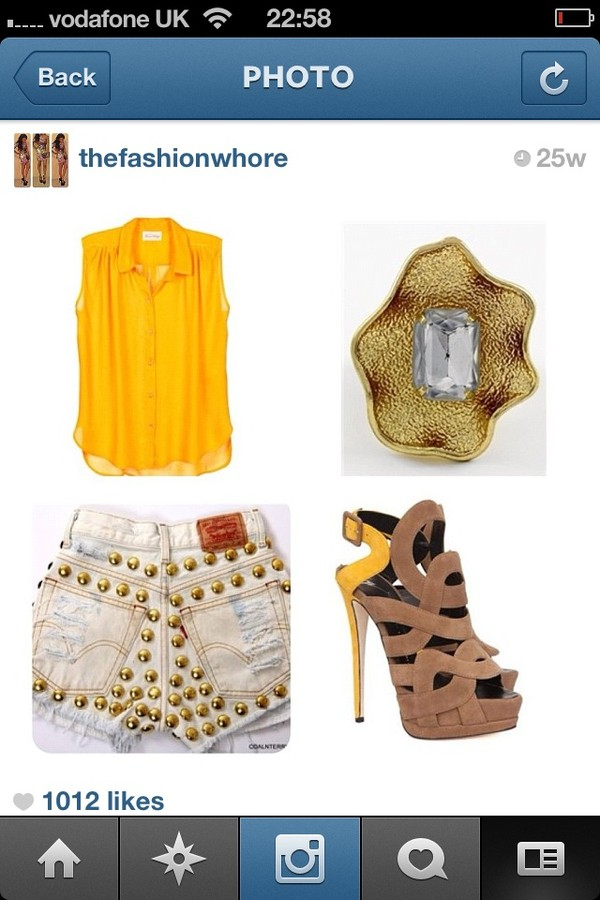shorts gold studded shoes