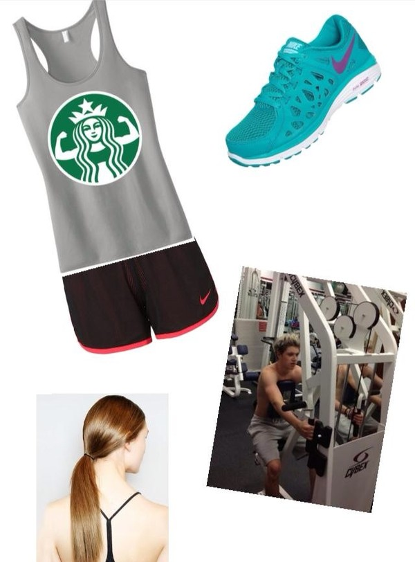 tank top niall horan cool workout workout shoes one direction outfit gym clothes workout sports shoes gym shoes