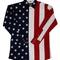 Ladies red white, blue american flag pearl snap western shirt