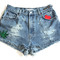Marijuana patch high waisted vintage shorts – created by fortune