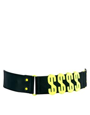 River Island | River Island Fluro Wordy $$$$ Belt at ASOS