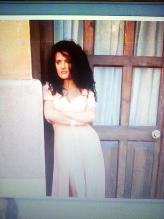 dress salma hayek slit dress maxi dress