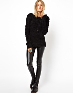 ASOS | ASOS Jumper In Fluffy Open Knit at ASOS