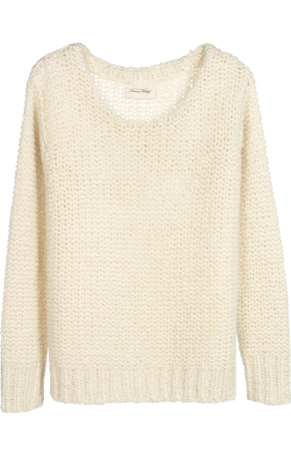 Pull col bateau maille loose Femme