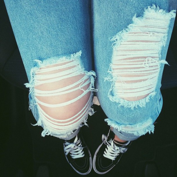 jeans ripped jeans light jeans