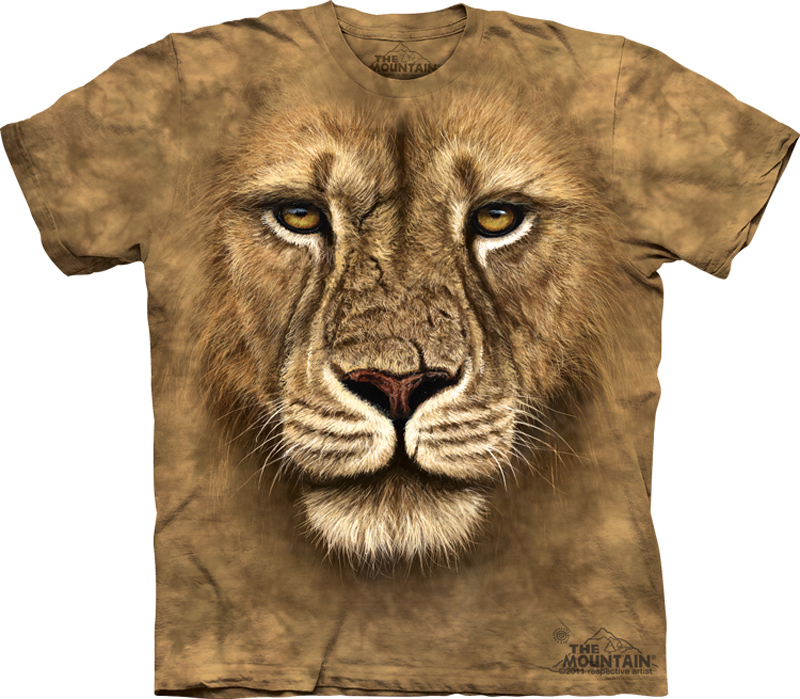 Lion Shirt Warrior T-shirt Tie Dye Adult Tee