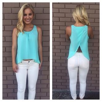 blouse split back sexy top