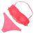 Coral Crochet Lace Bikini   uoionline.com: Women's Clothing Boutique