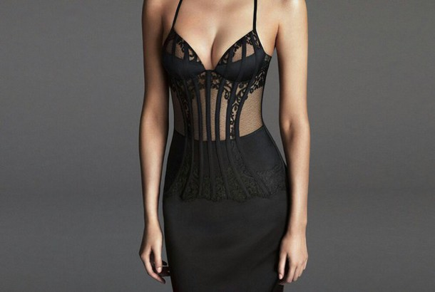 dress lace dress black dress