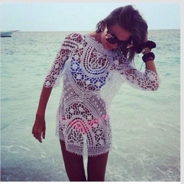 dress white summer swimwear