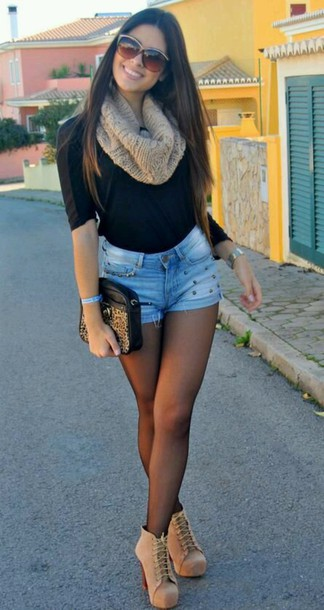 shoes scarf shirt