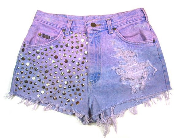 Dip dyed Studded Vintage Shorts   Created by Fortune