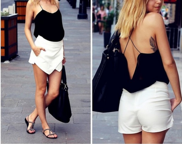 skirt skirt irregular skirt culottes