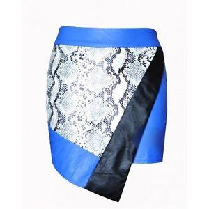 Nasty Gal Inspired Python Snake Print Asymmetrical Faux Leather Skirt Small | eBay