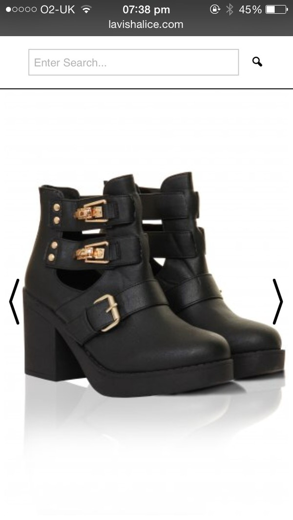 shoes chunky boots chunky heels cut out ankle boots
