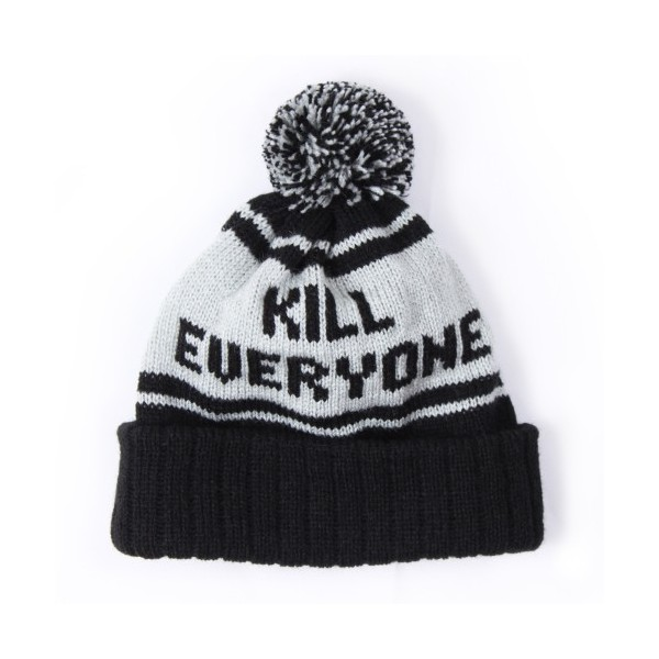 Kill Everyone Beanie Black - Polyvore