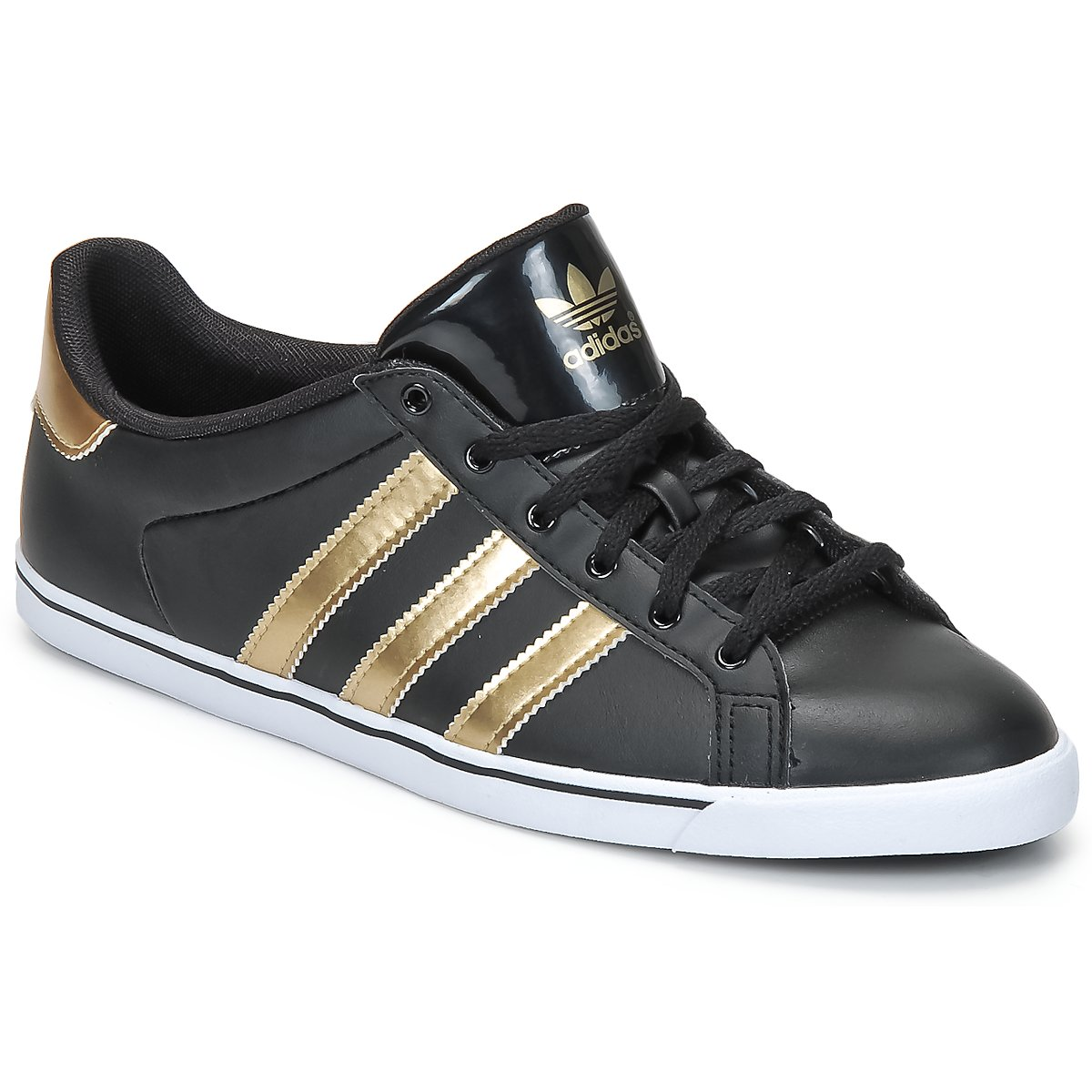 Deportivas bajas adidas Originals COURT STAR SLIM W Negro / 1- METALICO / _ - Entrega gratuita con Spartoo.es ! - Zapatos Mujer 75,00 €