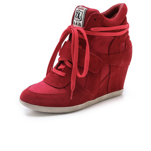 Ash Bowie Wedge Sneakers - Polyvore