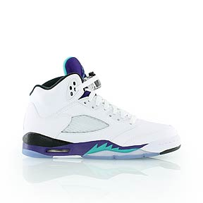 jordan - KIDS 5 RETRO (GS) - Sneakers high - white/grape - KICKZ.CO.UK