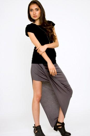 Rayon Asymmetric Skirt- $25
