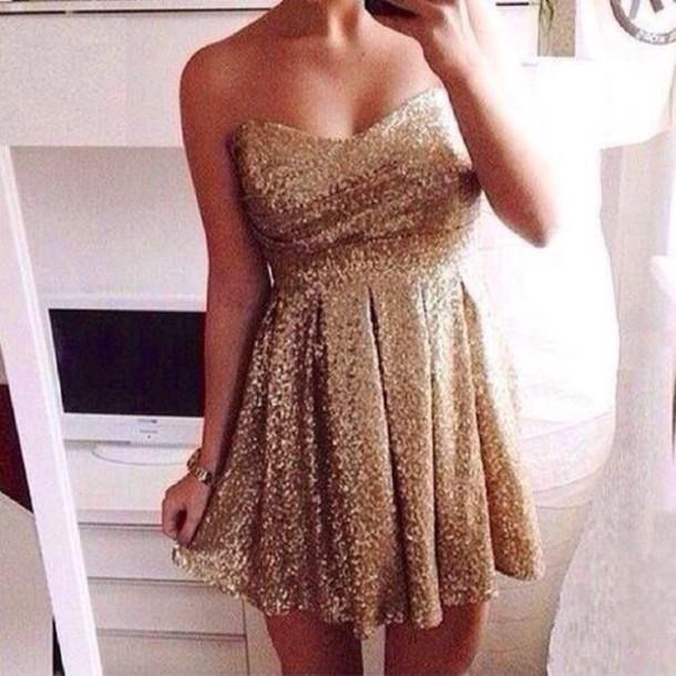 dress gold sparkly dress