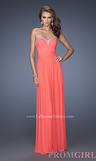 Prom Dresses, Celebrity Dresses, Sexy Evening Gowns - PromGirl: Strapless Sweetheart Formal Gown