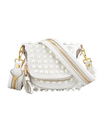 Tom Ford Jennifer Mini Studded Crossbody Bag, White - Bergdorf Goodman